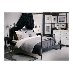 Ikea NYPONROS Duvet cover and pillowcase with the ALINA Dark Grey Bedspread