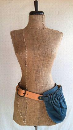 Leather Hip Bag Teal Hip Pocket Belt by littlewingsdesigns on Etsy, $118.00