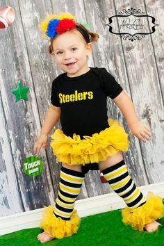 Pittsburg Steelers Inspired Tutu BodysuitCan by birthdaycouture, $42.00