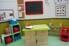 An American Girl at Play blog -- setting up a play school