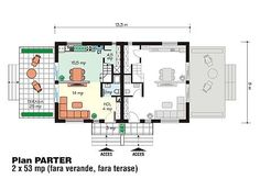 proiecte-de-case-duplex-duplex-house-plans-10 Design Case, Floor Plans, Diagram, Houses, Modern, Floor Plan Drawing, House Floor Plans