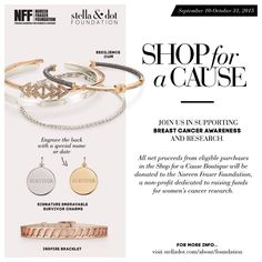 Shop for a Cause w/ Stella & Dot...starting Sept. 10 all net proceeds will benefit the #NoreenFraserFoundation for #breastcancerawareness. Spread the #sdjoy & save the ta-ta's!