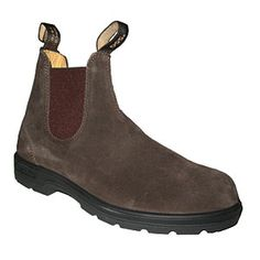 Blundstone 557 Chocolate Suede- I need to replace mine- I am really bummed that they are plastic soles now instead of the real rubber that they used to be!