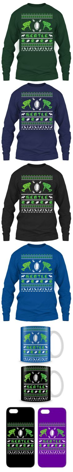 Seattle Football Ugly Christmas Sweater! Click The Image To Buy It Now or Tag Someone You Want To Buy This For.