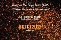 Get great goals and tips for 2013 all New Years Eve long! Just follow the hashtag...  Constant Contact