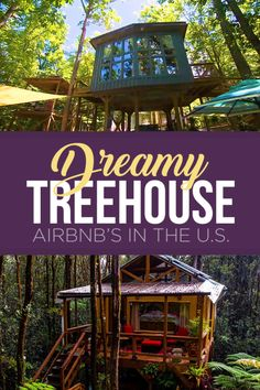 If you really want to get off-the-grid for your next vacation adventure, there are a number of epic treehouse masterpieces on Airbnb where you can live out your childhood dreams. Best Vacations For Couples, Unique Vacations, Couples Vacation, Unique Hotels, Dream Vacations, Vacation Places In Usa, Vacation Destinations, Vacation Trips, Places To Travel