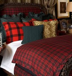 Plaid is my go-to for Christmas. I like to keep it simple, and that's what Tartan Plaid gives me. The Tartan Plaid fabrics bring an ins. Ralph Lauren, Home Bedroom, Bedroom Decor, Bedrooms, Bedroom Ideas, Tartan Decor, Tartan Plaid, Plaid Bedding, Plaid Bedroom