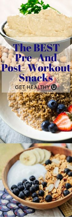 We've compiled a list of the best Pre- And Post- Workout Snacks for both boosting your energy levels and improve your routine, and warding off muscle soreness and replenishing your body.❤️