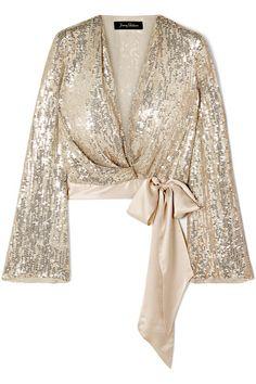 Jenny Packham Women Blouse on YOOX. The best online selection of Blouses Jenny Packham. Jenny Packham, Hijab Fashion, Girl Fashion, Fashion Dresses, Classy Outfits, Chic Outfits, Hijab Stile, Hijab Dress Party, Silk Chiffon