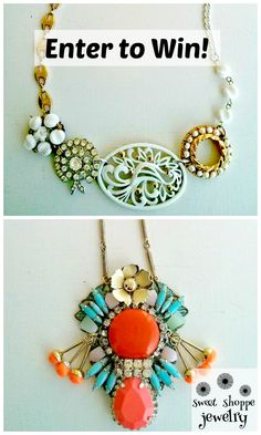 Necklace Giveaway on redomom.com! These are vintage handmade one of a kind necklaces!!  You gotta check this out!!  #jewelry #giveaway #redomom