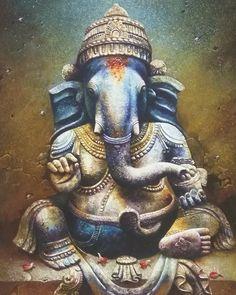 . Artist:- Unknown... . DM for credits/removal... . Follow  @shiva_ganesha_krishna  for daily devotional. . Follow @joshi.shaunak  for daily motivational. . . . . #lordganesha #lordshiva #blessing #photooftheday #photographie #music #ganesha #epic #India #history #hindu #god #devotional #spritual #devine #tattoo #animation #art #artist #painting #canvasart #wallpiece #wallpaper #art #artist #ganpatibappamorya #baby #twitter #pin #facebook #twitter Shri Ganesh, Lord Ganesha, Lord Shiva, Krishna, Ganesh Chaturthi Photos, Happy Ganesh Chaturthi Images, Ganesh Utsav, Alphabet Images, Shiva Art