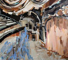 Mie Olise (Danish, b. 1974), Growing Theatre, 2013. Oil on canvas, 195 × 210 cm