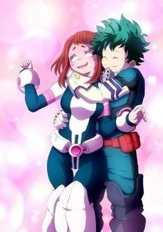 Anime Couples Deku e Uravity by - My Hero Academia Memes, Hero Academia Characters, My Hero Academia Manga, Anime Characters, Chica Anime Manga, Otaku Anime, Kawaii Anime, Cartoon As Anime, Anime Shop