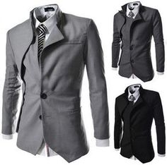 NEW! Men's Trendy Long Sleeve Suit Jacket