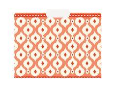 File in style with chic ikat folders. Orange Ikat File Folders, $10. paper-source.com.