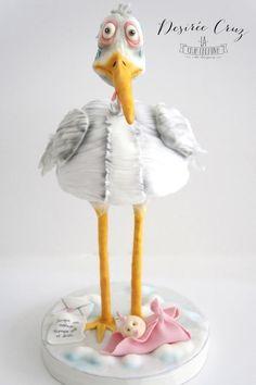 Stork Cake - Cake by La Caja Creativa