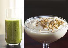 Fünf Unzen Mahlzeitenersatz-Shake oder zwei Unzen fettarmen Joghurt mit 1/2 Teelöffel Leinsamen kann für eine Scheibe Toast wechselt werden.