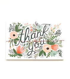 Rifle Paper Floral Thank You Postcards