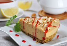 This recipe for maple cheesecake is easy to throw together when you need a yummy dessert. Maple Cheesecake Recipe from Grandmothers Kitchen. Cookie Desserts, Fun Desserts, Delicious Desserts, Yummy Food, No Bake Pumpkin Cheesecake, Cheesecake Recipes, Cheesecake Bars, Baked Strawberries, Seasonal Food