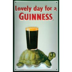 Mully's Touch of Ireland - Guinness Metal Turtle Sign, $54.95 (http://www.mullystouchofireland.com/guinness-metal-turtle-sign/)