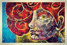 Sandra Reinecker acrylic painting on canvas 35/50