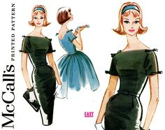 1960s Dress Pattern Bust 32 McCalls 5776 Evening by CynicalGirl