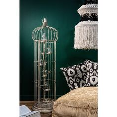 Large Birdcage With Bottle Candle Holders ($140) ❤ liked on Polyvore featuring home, home decor, candles & candleholders, contemporary candle holders, birdcage candle holder, bird cage home decor, contemporary home decor and handmade candle holders