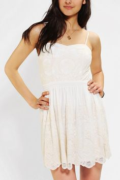 Pins And Needles Smocked-Waist Embroidered Dress #urbanoutfitters