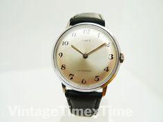 Timex Marlin Men's Watch 1969 Silver Dial by VintageTimexTime