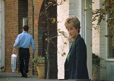 November, 1993:  Princess Diana leaves the store Manolo Blahnik  in Chelsea
