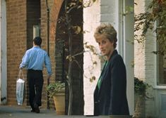 November, 1993:  Princess Diana leaves the store Manolo Blahnik  in Chelsea