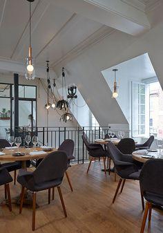 Salle à manger du Laurea, restaurant gastronomique de Montreal. - Laurea et Lorbeer : la déco wow ! - Décormag
