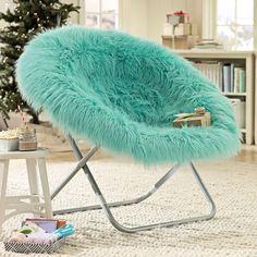 Pool Fur-rific Faux-Fur Hang-A-Round Chair
