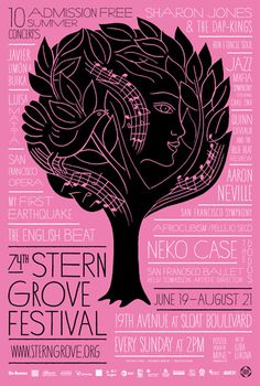 mine stern grove festival  large poster by mine