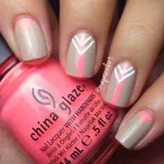 Flip flop fantasy by china glaze Aztec nail art mani nails