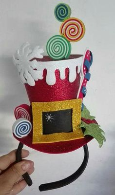 Tacky Christmas Outfit, Christmas Hat, Merry Christmas, Christmas Ornaments, Christmas Crafts To Sell, Christmas Decorations, Holiday Decor, 242, Birthday Candles