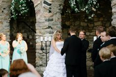 Castle Farms Wedding Queen's Courtyard ceremony. Charlevoix, Michigan. Photo by Matt Pratt Photography