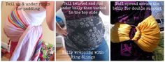 Using a Ring Sling to Support a Pregnant Belly