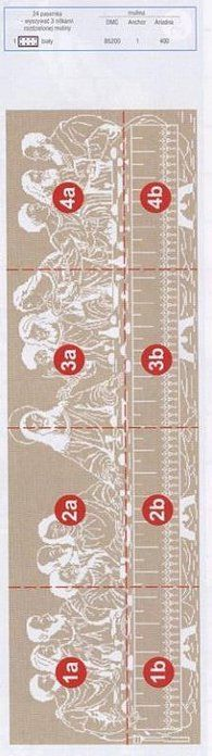 The Last Supper Cross stitch - Cross Stitching, Cross Stitch Embroidery, Embroidery Patterns, Cross Stitch Patterns, Crochet Patterns, Filet Crochet, Plastic Canvas Ornaments, Mini Cross Stitch, Religious Cross