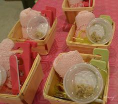 girls' weekend spa party Think Garnish baskets