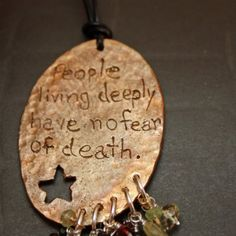 Bronze Metal Clay Carved Anais Nin Quote by AprShowersMayFlowers, $60.00