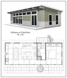 This Shed roof cabin plans williams gorgeous custom photos and collection about Shed roof cabin plans current. We also listed another House Plans Shed roof cabin floor plans style modern contemporary with Shed under feet Shed House Plans, Cabin Plans, Small House Plans, House Floor Plans, Shed Roof Design, House Design, Prefabricated Cabins, Cabin Loft, Home Design Software
