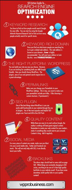 #SEO Action Guide to #SearchEngineOptimization [Infographic]