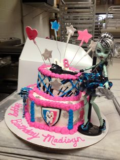 Monster high themed birthday cake.