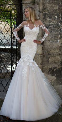 Courtesy of Oksana Mukha wedding dress; www.oksana-mukha.com; Wedding dress idea.