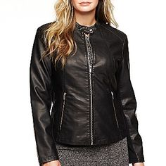 I bought this as a birthday present to myself. Love it!! Worthington® Faux Leather Jacket