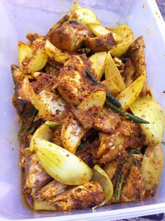 Fish Vindaye (pickled mustard fish) traditional Mauritian dish #Mauritius #london #catering