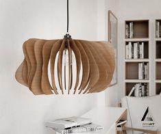 special design -  wood pendant light - handmade ceiling hanging light - modern lamp -  art decor #DEZAART #Contemporary #pendantlight #pendantlighting #chandelier #art #design #decor #modern #wood
