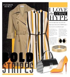 """""""I Love the Stripe Hype"""" by joyfulnoise1052 on Polyvore featuring RED Valentino, Chico's, Christian Louboutin, Bounkit, Henri Bendel and BoldStripes"""