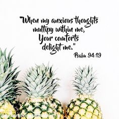 """""""The minute I said, """"I'm slipping, I'm falling,"""" your love, God, took hold and held me fast. When I was upset and beside myself, you calmed me down and cheered me up."""" Psalm 94:18-19 (The Message) #psalms #anxiety #comfort"""